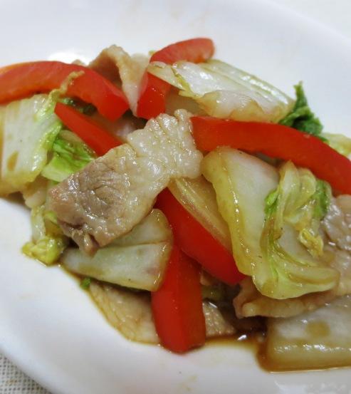 豚肉と白菜のオイスターソース炒め 大