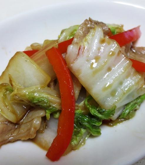 白菜と豚肉のオイスターソース炒め B