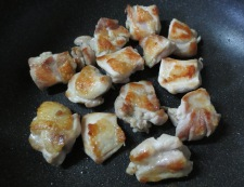 鶏きのこのおろしポン酢 調理①