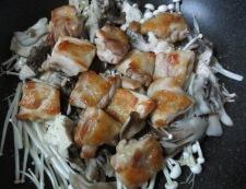 鶏きのこのおろしポン酢 調理②