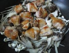 鶏きのこのおろしポン酢 調理③