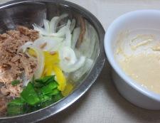 ツナの胡麻マヨサラダ 調理