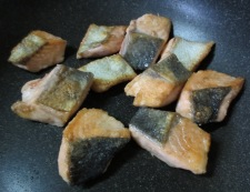 秋鮭ジャーマンポテト風 調理①