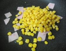 コーンのチーズ焼き 調理①