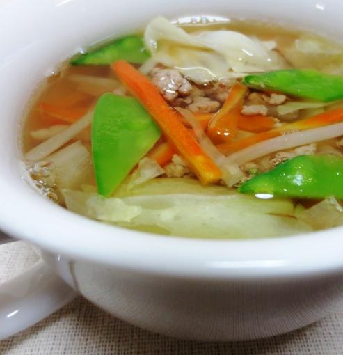 豚ひき肉とキャベツのスープ B