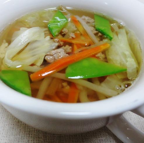 豚ひき肉とキャベツのスープ 大