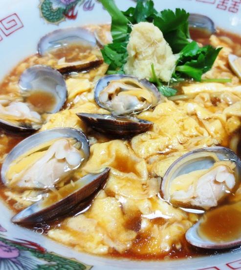 あさりスープの鶏卵ラーメン B