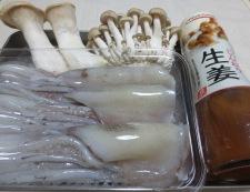 イカゲソ茸の生姜炒め 材料