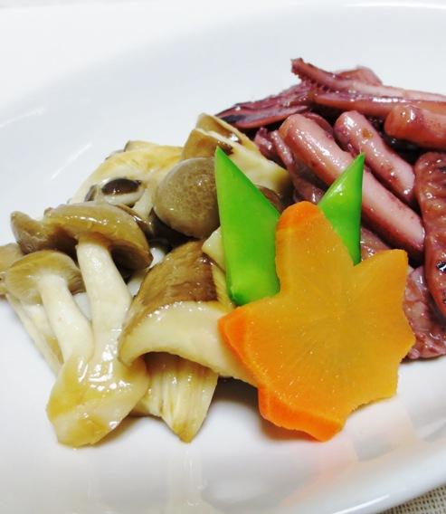 イカゲソ茸の生姜炒め 拡大