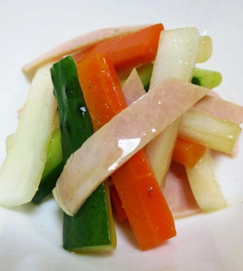 ハムとスティック野菜のサラダ B