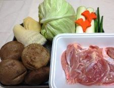 鶏肉と椎茸のとろとろ煮込み 材料