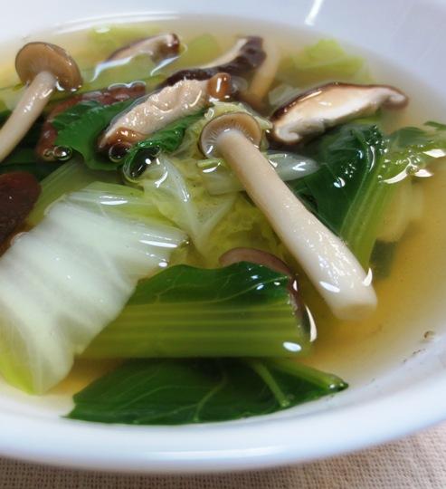 白菜と小松菜の中華スープ B