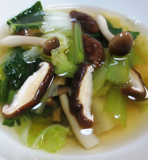 白菜と小松菜の中華スープ 大
