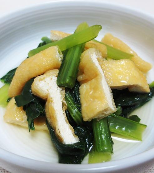小松菜とお揚げの炊いたん 大