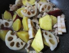 根菜の柚子胡椒炒め 調理④