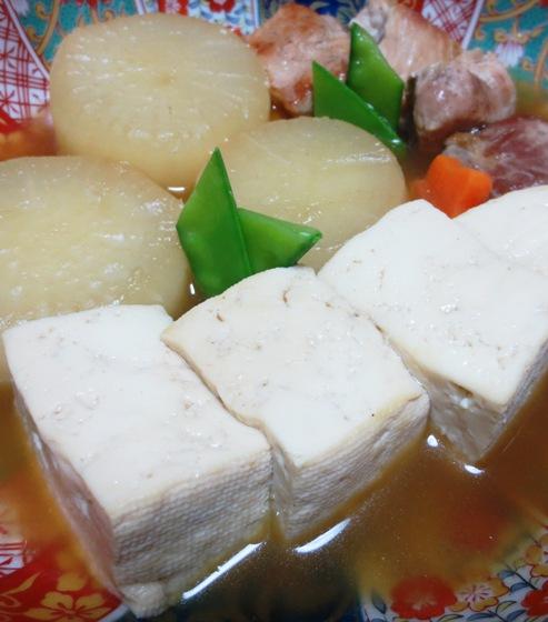 豚大根と豆腐の炊いたん 拡大
