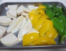 青椒牛肉片(チンジャオニューローペン) 【下準備】②