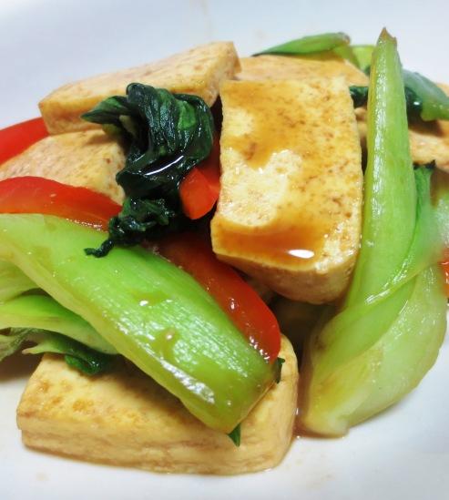豆腐と青梗菜のオイスターソース炒め B