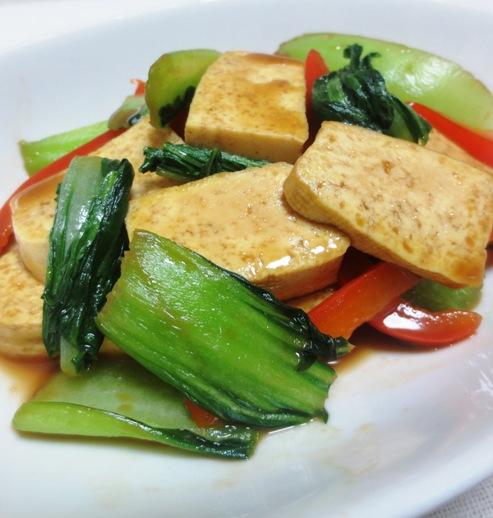 豆腐と青梗菜のヤイスターソース炒め 大
