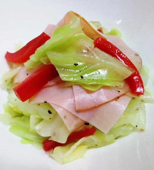 ハムとキャベツの黒胡椒サラダ B