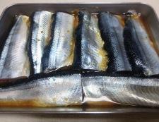 秋刀魚竜田揚げおろしポン酢 調理①