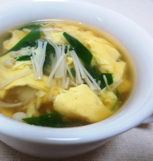 ニラ玉スープ 大