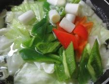 和風ホイコーロー(回鍋肉) 調理②