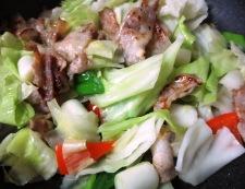 和風ホイコーロー(回鍋肉) 調理③