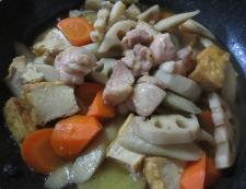 根菜の筑前煮 調理③