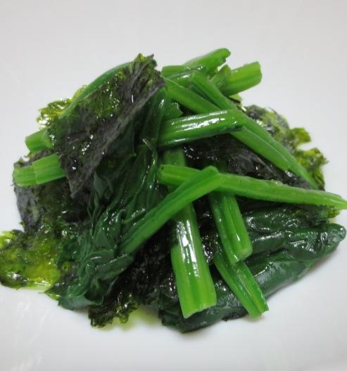 ほうれん草の韓国海苔和え B