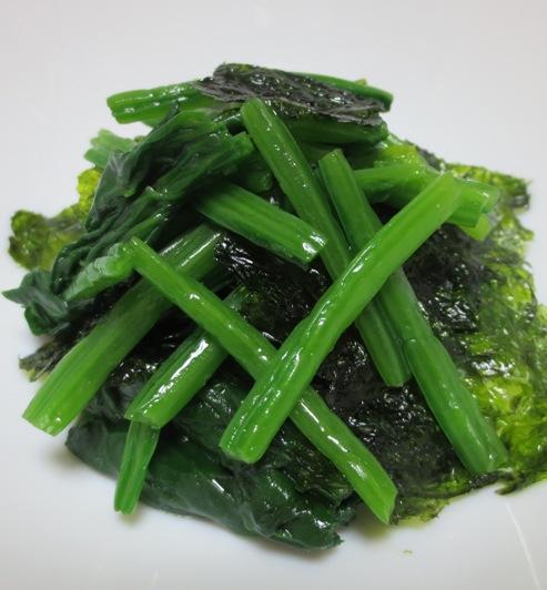 ほうれん草の韓国海苔和え 大