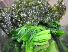 ほうれん草の韓国海苔和え 調理