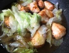 鶏胸肉の唐揚げレタスあんかけ 調理⑤