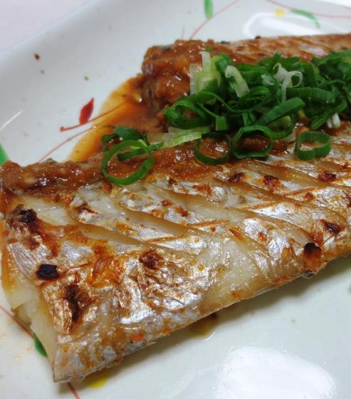 太刀魚の胡麻豆板醤焼き 拡大