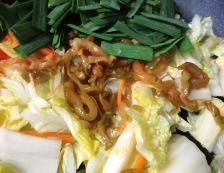 白菜とザーサイ炒め 調理