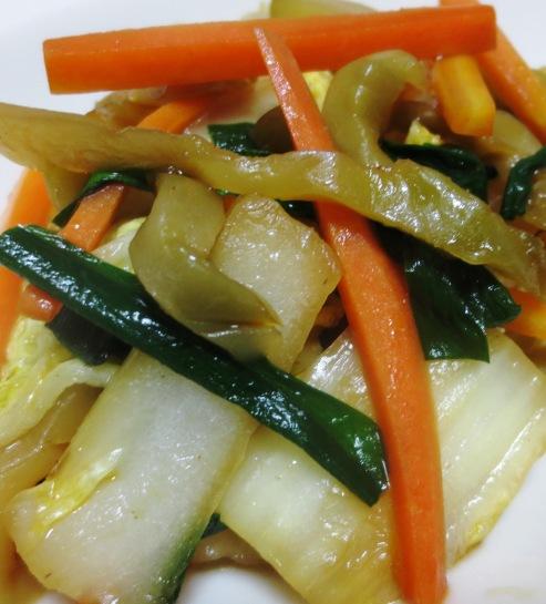 白菜とザーサイ炒め 大