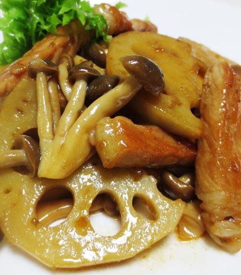 豚肉とれんこん柚子胡椒ポン酢炒め 拡大