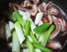 イカゲソの旨煮 調理②