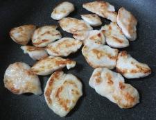 鶏ささみとごぼうの胡麻照り焼き 調理④