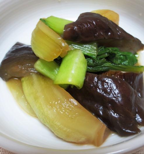 青梗菜と茄子のオイスターソース煮 大