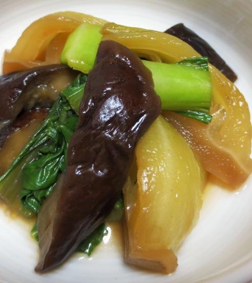 青梗菜と茄子のオイスターソース煮 B