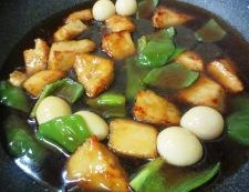 白身魚とうずら卵の甘酢あん 調理⑥