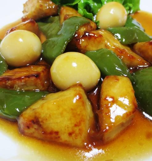 白身魚とうずら卵の甘酢あん 拡大