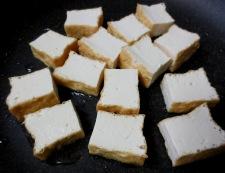 むき栗と厚揚げ炒め 調理①