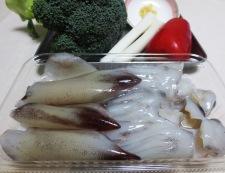 イカゲソとブロッコリーの塩炒め 材料