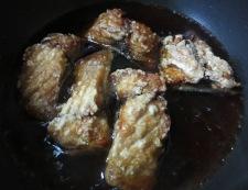 サバの揚げ煮 調理③