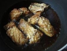 サバの揚げ煮 調理④