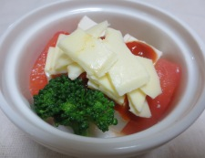 豆腐とトマトのチーズ焼き 調理②