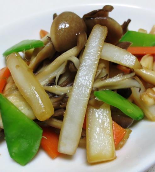 白菜と茸の柚子胡椒ソテー 大