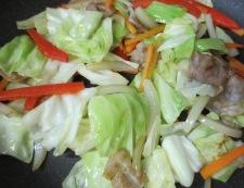 キャベツの焼きスパオムレツ 調理④